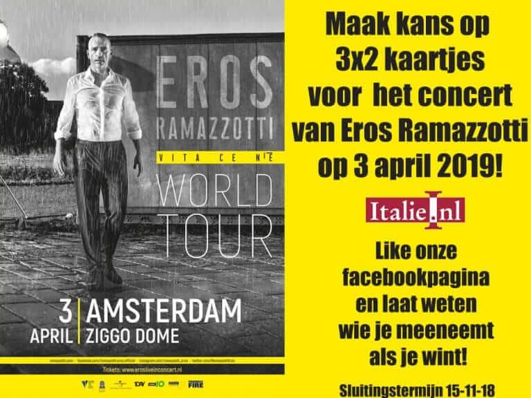 Win vrijkaartjes voor Eros Ramazzotti concert