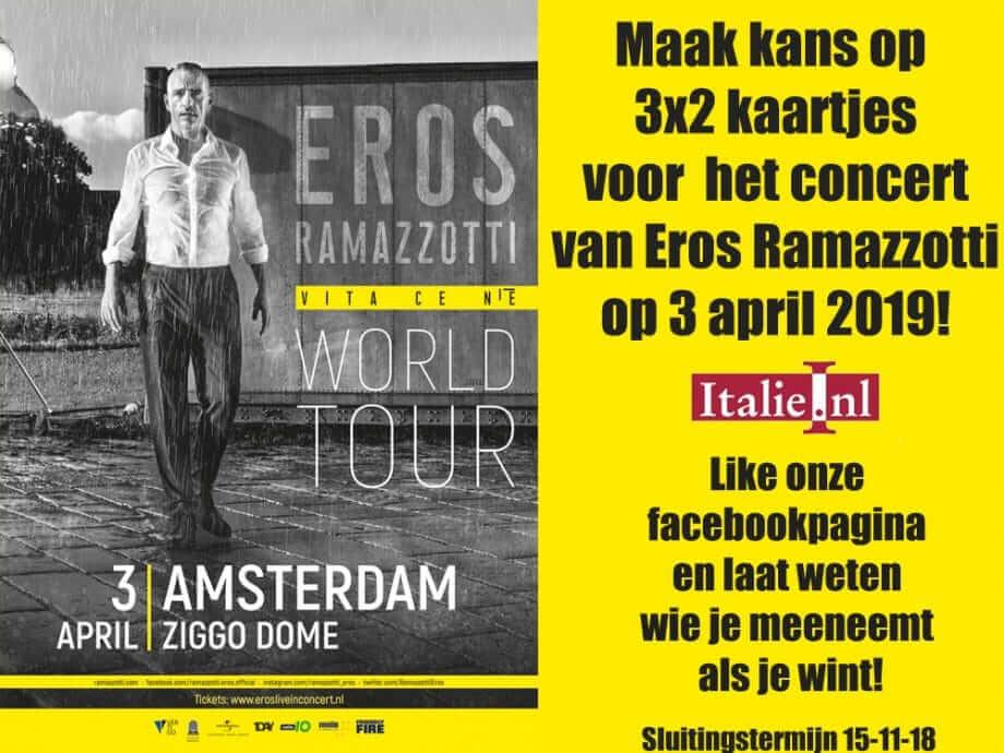 Win kaartjes voor Eros Ramazzotti