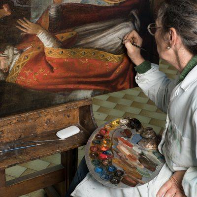 Kunstrestauratie werkplaats van Nicola Restauri