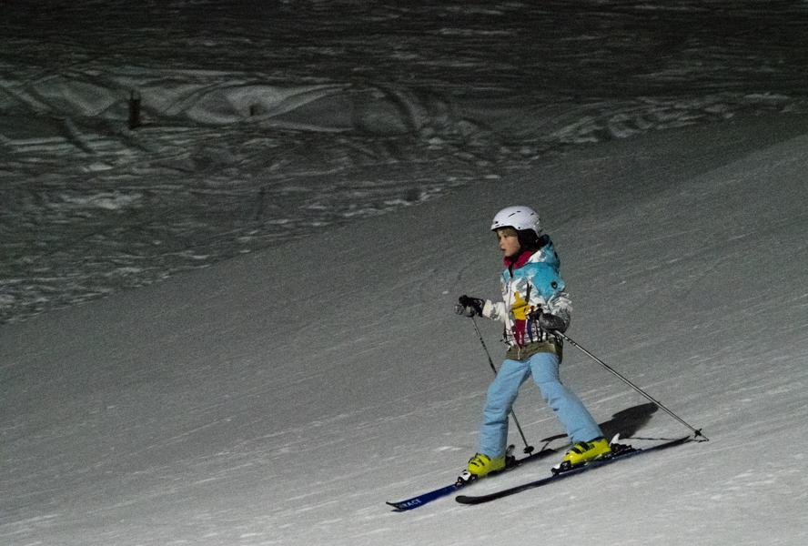 Avond skiën
