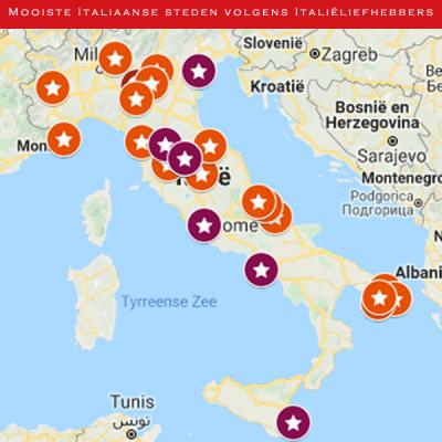 Mooiste Italiaanse steden volgens Italiëliefhebbers
