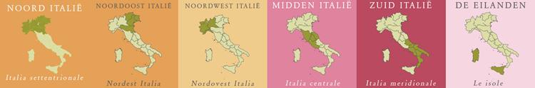 Bekijk informatie per Italiaanse regio