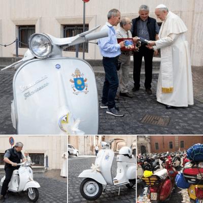 Vespa scooter voor Paus Franciscus