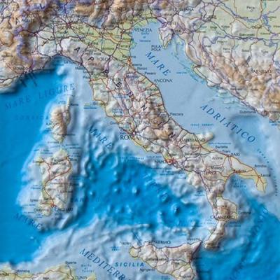 Reliëf landkaart Italië - uitverkoop