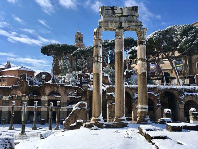 Rome in de sneeuw