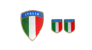 Scudetto stickerset Italiaanse vlag
