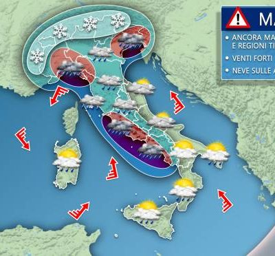 De gevolgen van het noodweer in Italie