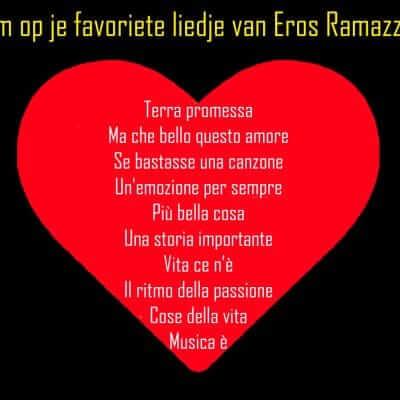 Top tien liedjes Eros Ramazzotti
