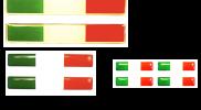 Trio stickerset Italiaanse vlag