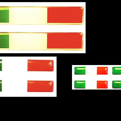 Trio stickerset Italiaanse vlag - Uitverkoop