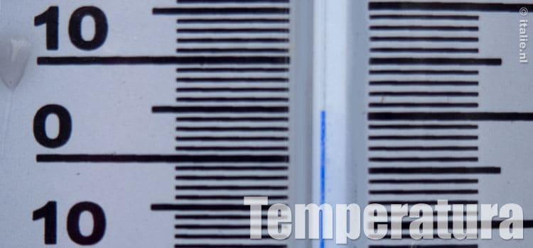 gemiddelde temperatuur in Italie