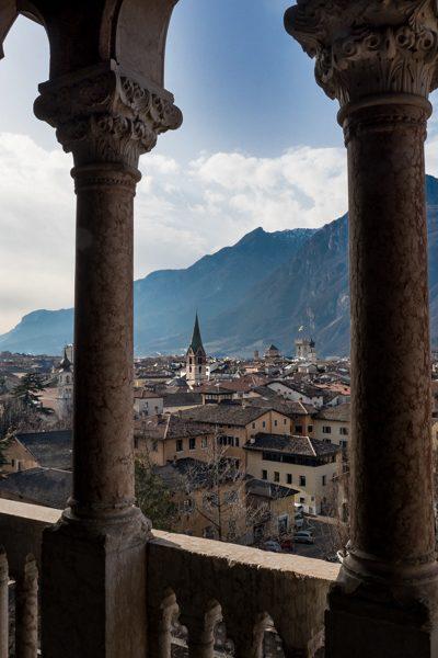 Trento gezien vanuit Castello del Buonconsiglio