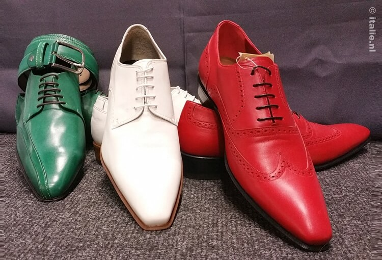 Tricolore Italiaanse schoenen © www.italie.nl