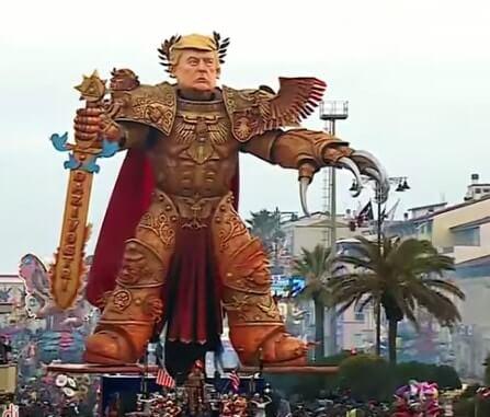 Donald Trump op carnaval van Viareggio
