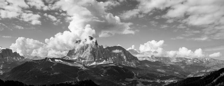Uitzicht op de Sassolungo