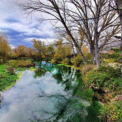 Kanoën op rivier Tirino in Nationaal Park Gran Sasso