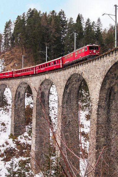 Bernina Express, Trenino Rosso, Rhätische Bahn© Claudia Zanin