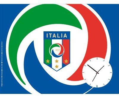 Wandklok Azzurri Italiaans voetbalelftal